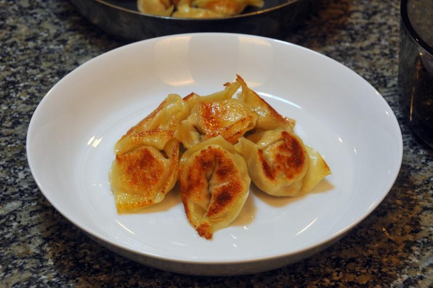 Dumplings plating
