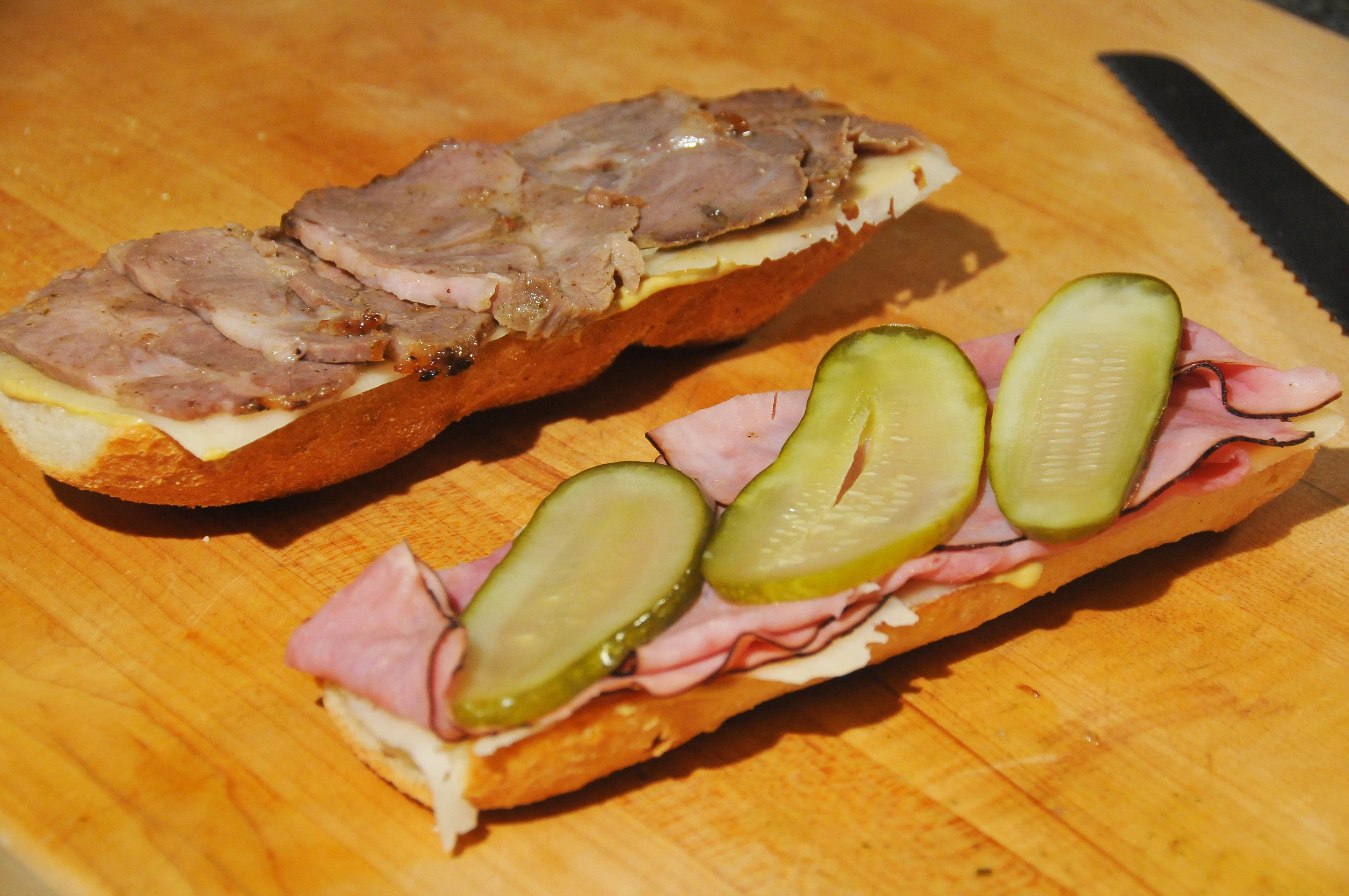 Cuban Sandwich Assembly