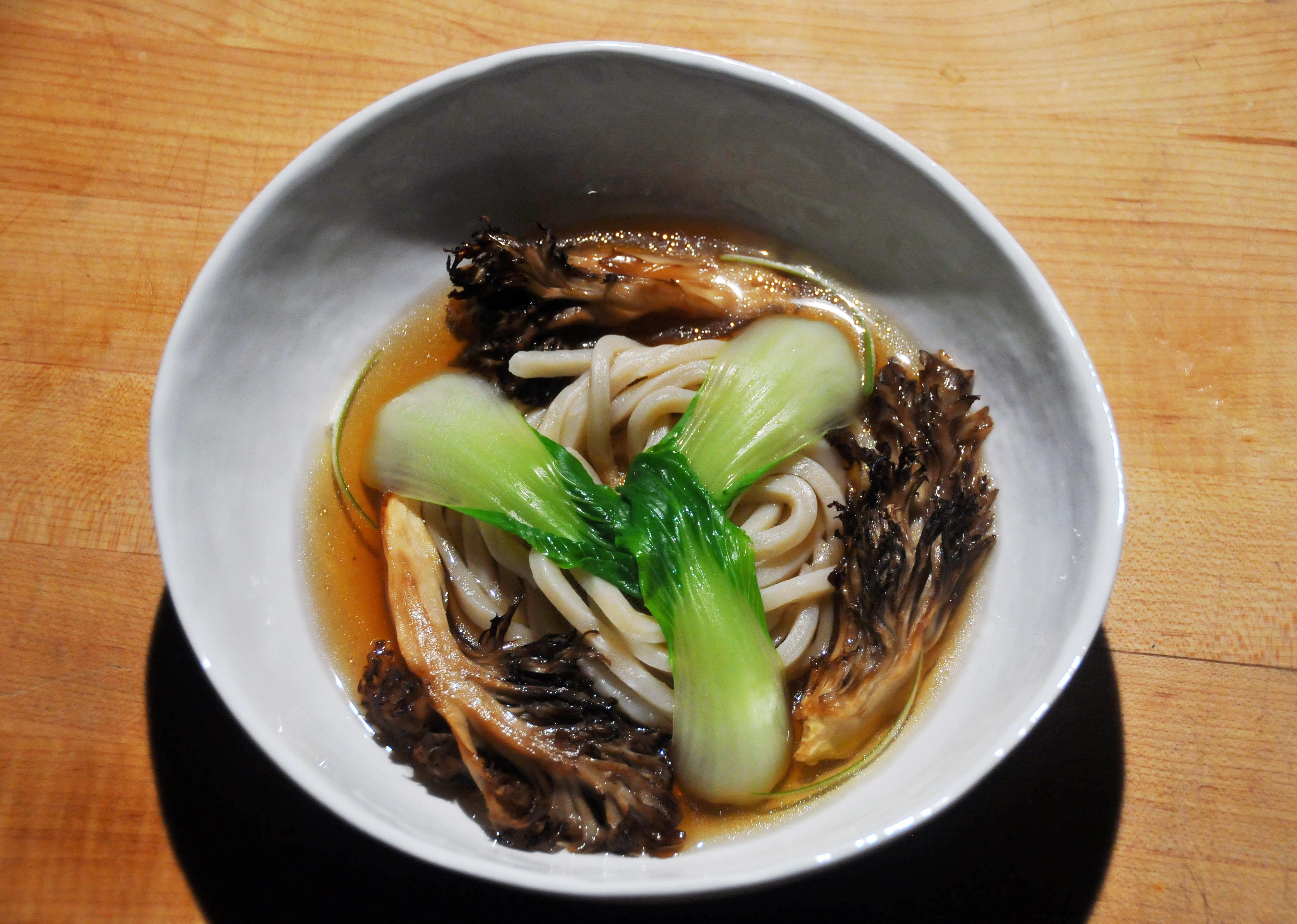 Dashi Maitake, Noodles